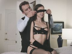 Petite Brunette trying BDSM