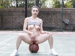 Scored on her at the basketball court