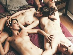 Neighbors join in for threesome