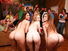 College students having a hot party