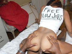 Ebony gives free blowjobs