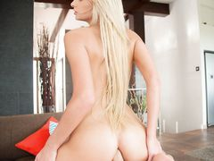 Blonde babe with a very tight ass