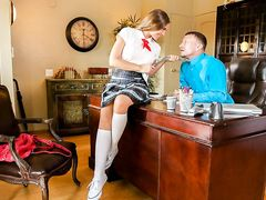 Teacher fuck his perverted schoolgirl