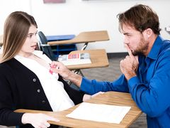 Schoolgirl gets the oral assessment