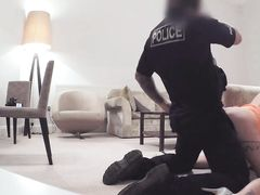 Cop in uniform fuck with horny amateur