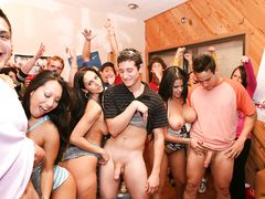 Pornstars overrun a college party