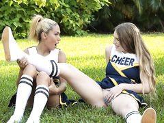 Cheerleaders being aroused